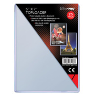 (50) Ultra Pro 5 x 7 Topload Card Holders 5x7 Photo Postcard Toploaders Archival