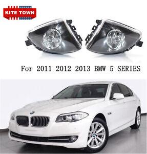LEFT & RIGHT FOG LIGHTS FIT FOR 2011 2012 2013 BMW 5 SERIES F10 528I 535I 550I