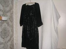 NEXT Ladies black cocktail dress lace and sequins size 14