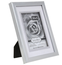 Silver Photo Picture Frame Deep Matted 3D CHOOSE ANY SIZE 4x6, 3.5x5, 5x7 inch