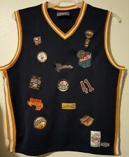 Harlem Globetrotters Pre-Owned Size Xl Blue Logos Jersey