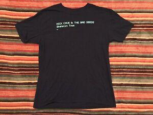 Nick Cave Bad Seeds T Shirt LG 2016 Official Grinderman Joy Division Post Punk