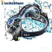 Led Headlamp 80000LM T6/L2 Zoomable Headlight Waterproof Torch Head Lamp
