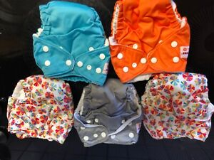 Set of 10 8-15 lbs Amazing Baby Reusable Inserts for SmartNappy Hybrid Diaper Cover 5 Tri-fold Inserts and 5 Boosters Size 2