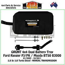 Grunt 4x4 Dual Battery Tray Ford Ranger PJ PK Mazda BT50 B3000 Manual 2007-2011