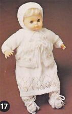 "BABY DOLL LAYETTE for 48cm / 19"" 3ply - COPY  vintage doll knitting pattern"