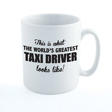WORLDS GREATEST TAXI DRIVER - Cab / Travel / Transport / Gift Themed Ceramic Mug