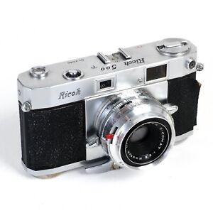 ^ Ricoh 500 35mm Film Rangefinder Camera w/ Ricomat 45mm 2.8 Lens [Read]