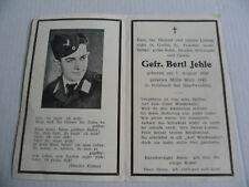 Sterbebild Death Card WW2 G Sulzbach Saarbrücken  19 Jahre