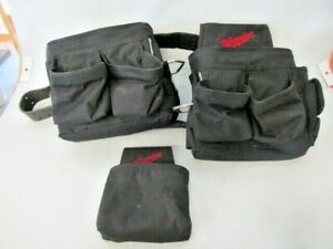Milwaukee tool belt and 3 pouches