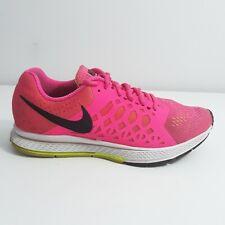 Nike Zoom Pegasus 31 Womens Running Shoes Sz 9M Neon Pink Black Sneakers