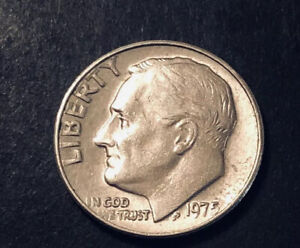 1975 NO MINT MARK CIRCULATED BUT LOOKING GREAT ROOSEVELT DIME. RARE. W/DD ERRORS