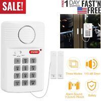 Wireless Magnetic Door Alarm 3Settings 110dB Siren Keypad Bell Ring Easy Install