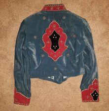 Gorgeous Double-D Ranch Wear DD Velvet Western Jacket  w/Studs Silver -S