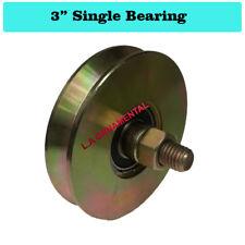 "3"" Steel V Groove Wheel Slide Driveway Gate V Groove Gate Wheel (Single Bearing)"