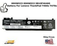 OEM Genuine 00HW023 00HW022 SB10F46460 Battery for Lenovo ThankPad T460s T470s