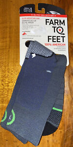NEW Farm To Feet Damascus Lite Wt Crew/Hiking Merino Wool Socks USA Size MEDIUM