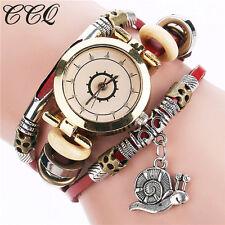 Luxury Leather Bracelet Watch Women Wristwatch Ladies Dress Quartz Watch US