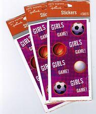 3 PACKS Scrapbook Stickers!  Sports SOCCER Basketball Volleyball GIRLS got Game!