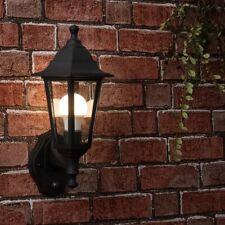 More details for traditional outdoor led wall lantern pir motion sensor + 6w gls light bulb ip44
