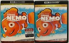 Disney Finding Nemo 4K Ultra Hd Blu Ray 3 Disc Set + Slipcover Ultimate Colle Ed