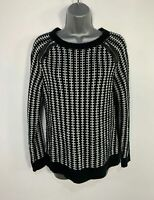 WOMENS MARKS&SPENCER BLACK&WHITE KNIT CASUAL PULLOVER JUMPER SWEATER SIZE UK 14
