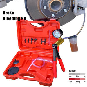 Car Brake Bleeding Kit Hand Vacuum Pump Pressure Tester Brake Fluid Bleeder Tool