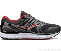 MEN'S SAUCONY STABILITY REDEEMER ISO 2 WIDE WIDE GREY   BLACK   RED S20382-1