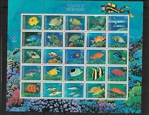 Micronesia 227 Fish Sheet Mint NH