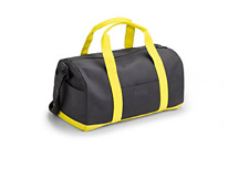 Genuine MINI Lifestyle Duffle Bag Grey & Lemon 80222445673