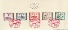 1955 Austria oversize FDC card 10th Anniversaryof Restoration Independence