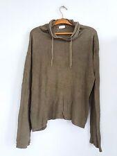Helmut Lang Italy olive green hoodie shirt tshirt large 90s 1999 vtg RARE
