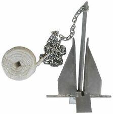 Danforth Style 8.5 lb Deluxe Fluke Anchor Kit w Chain & Line for 15 - 24 boat
