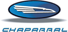 "Chaparral Boat Vinyl Sticker Decal Newer Vers 9.5"" x 4.5"" You Get 2"