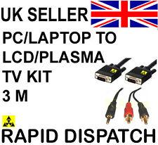 PC portatile per Plasma LCD TV Connection Kit Cavo 3M 9ft