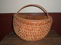 EARLY ANTIQUE PRIMITIVE VERY LARGE EGG  BASKET