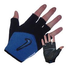 Womens Nike Elite Cycling Glove Fingerless Black/Blue Medium