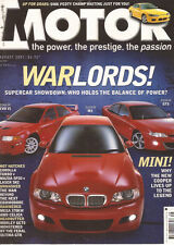 Motor Aug 01 Mazda 3 SP20 Lser SR2 Corolla Sportivo Ultima GTR M3 SMG Evo VI VX