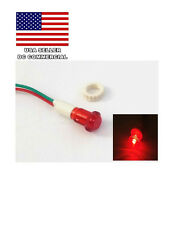 5 X NEW 12V WIRED RED LED  INDICATOR PILOT SIGNAL  LIGHT 10MM LOT USA SELLER