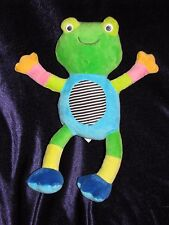 CARTERS STUFFED PLUSH CRINKLE FROG RATTLE STRIPE BABY TOY MULTI COLOR BENDY