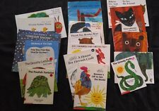 17 Book lot by Eic Carle + 2 bonus reusueable sticker books ~ AR REDUCED