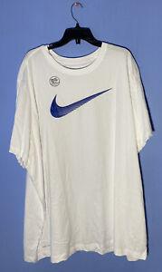 RARE! Size 4XLT Mens Nike Dri-fit Cotton Swoosh T-shirt Teal DJ8495 100