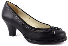 Andrea Conti Schuhe Pumps High Heels Echt Leder Gr.38 Schwarz 2793