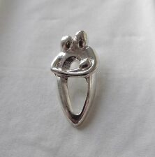LOVELY COUPLE WITH BABY PENDANT 925 STERLING SILVER  FAMILY NEW BABY