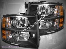 07-13 Chevrolet Silverado 1500 2500HD 3500HD Pickup Headlights Black Housing