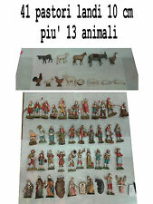 41 pastori landi 10 cm piu 13 animali moranduzzo presepe crib shepherds