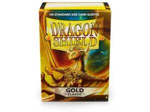 Classic Gold 100 ct Dragon Shield Sleeves Standard Size FREE SHIPPING 10% OFF 2+