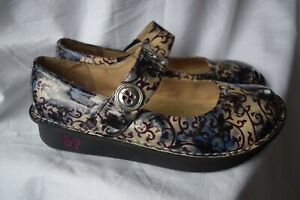 "Alegria Paloma patterned  leather shoes..."" Mary Jane "" style...size EU 40"