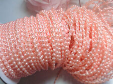 1/8 inch wide pink color  Flat back Pearl trim price for 2 yard
