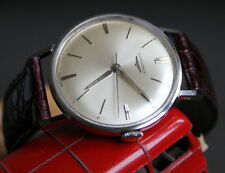 Vintage LONGINES CLASSIC Swiss Made watch white satin dial 1950-60s Calibre: 280